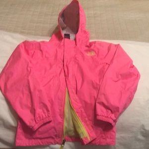 The north face rain coat size 10/12 girls